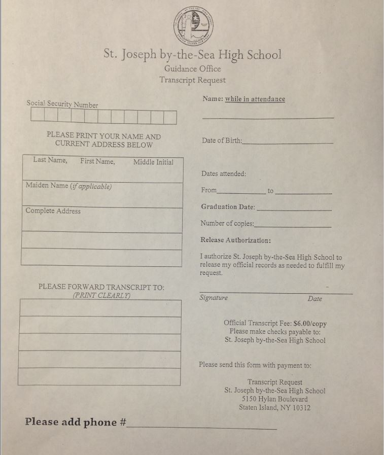 Contact Us  St Joseph By The Sea High School